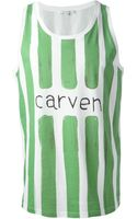 Carven Striped Tank Top - Lyst
