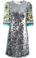 Dolce & Gabbana Sicilia Sequined Dress - Lyst