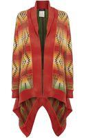 Polo Ralph Lauren Knitted Long Sleeve Drape Cardigan - Lyst