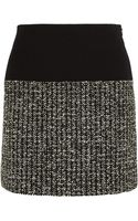 Bouchra Jarrar Bouclétweed and Crepe Mini Skirt - Lyst