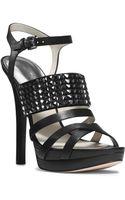 Michael Kors Arabella Leather Platform Sandal - Lyst