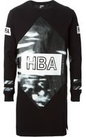 Hood By Air Printed T-shirt with Side Zip - Lyst