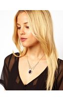 Asos Jewel Cameo Necklace - Lyst