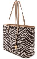 Michael by Michael Kors Jet Set Travel Tiger Stripe Medium Tote - Lyst