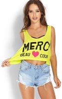 Forever 21 Merci Beau Coup Tank - Lyst
