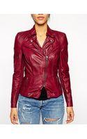 Muubaa Lyra Leather Biker Jacket - Lyst