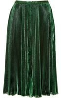 Rochas Pleated Chiffon and Lurex Skirt - Lyst