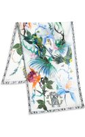 Roberto Cavalli Tropical Birds Silk Scarf - Lyst
