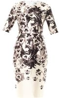 Prabal Gurung Floral Print Peplum Dress - Lyst