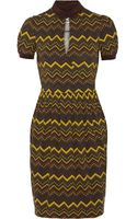 M Missoni Wrap Effect Printed Stretch Jersey Dress - Lyst