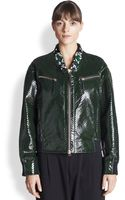 Marni Perforated Patent Leather Jacket - Lyst