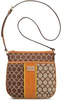 Nine West 9s Mixed Media Medium Crossbody - Lyst