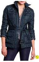 Banana Republic Factory Quilted Jacket  True Navy - Lyst