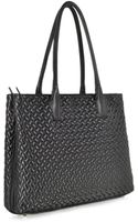Fontanelli Black Large Quilted Leather Tote - Lyst