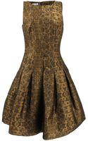 Oscar de la Renta Bateau Neck Skirt Dress - Lyst