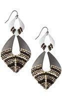 Nakamol Beaded Marquis Double-drop Earrings - Lyst
