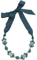 Lanvin Short Crystal Necklace - Lyst