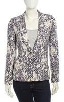 Joie Mehira B Leopard Print Linen Jacket - Lyst