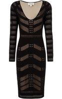 Temperley London Black Panelled Emblem Dress - Lyst