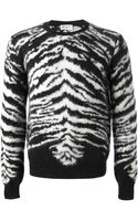 Saint Laurent Zebra Sweater - Lyst