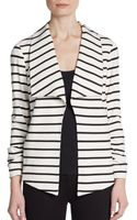 Saks Fifth Avenue Black Label Ruched Sleeve Ponte Jacket - Lyst