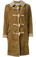 Saint Laurent Shearling Lined Duffle Coat - Lyst
