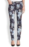 7 For All Mankind Floralprint Skinny Jeans - Lyst