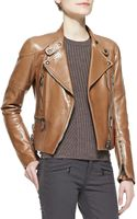 Belstaff Napa Leather Zip Moto Jacket - Lyst