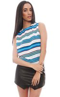 Equipment Reagan Striped Sleeveless Top - Lyst