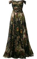 Dolce & Gabbana Chiffon Floral Bouquet Dress - Lyst