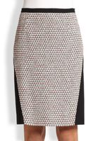 Piazza Sempione Compact Jersey Tweed Pencil Skirt - Lyst