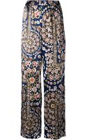 Suno Tapestry Wide Leg Trousers - Lyst