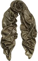 Saint Laurent Metallic Leopardprint Woven Scarf - Lyst