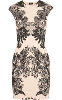 McQ by Alexander McQueen Printed Stretch-cotton Jersey Mini Dress - Lyst