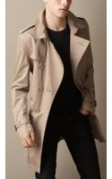 Burberry Long Cotton Twill Trench Coat - Lyst