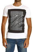 Iceberg T-Shirt Short Sleeve Crew Neck Tartan Print - Lyst