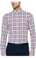 Gant Rugger Linen Crepe Check Hugger Original Button Down - Lyst