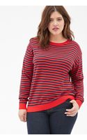 Forever 21 Striped Crew Neck Sweater - Lyst