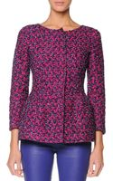 Giorgio Armani Boucle Peplum Jacket with 34 Sleeves - Lyst