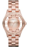 Marc By Marc Jacobs 34mm Henry Skeleton Glitz Watch - Lyst