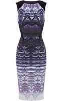 Karen Millen Ombre Lace Print Dress - Lyst