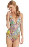 Trina Turk Coral Reef One Piece Swimsuit - Lyst