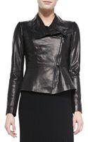 Lafayette 148 New York Estelle Lambskin Leather Jacket - Lyst