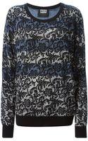 Markus Lupfer Lace Pattern Sweater - Lyst
