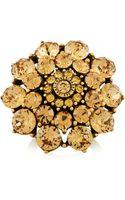 Oscar de la Renta Goldtone Crystal Ring - Lyst