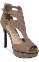 Jessica Simpson Ceaton Tstrap Platform Sandals - Lyst
