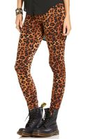 Material Girl Mirrored Leopard Leggings - Lyst