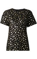 Moschino Cheap & Chic Gold Applique Top - Lyst