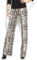 Inc International Concepts Petite Snakeskin-print Wide-leg Soft Pants - Lyst