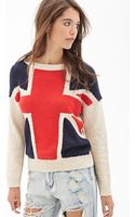 Forever 21 Marled Union Jack Sweater - Lyst
